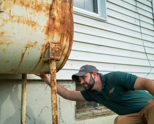 GES Inspecting Above Ground Tank with Rust